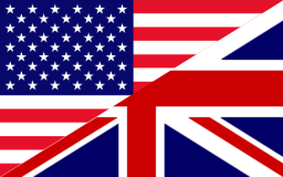 Large flag - English